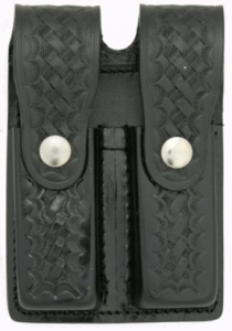 Leather double magazine holder for 9mm