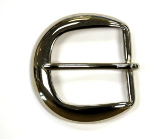 "Solid brass round buckle for 1-1/2"" Garrison belt"