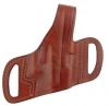 Leather half pancake holster for automatics