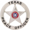 Texas peace officer - round with star